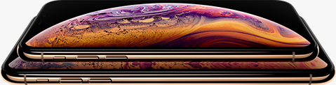 two iPhone Xs with a planet displayed on them